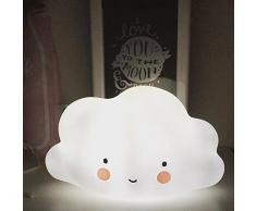 Mini nube de luz, Magiyard Luz de la habitación de la lámpara Luz de la noche de la decoración del pasillo (Blanco)