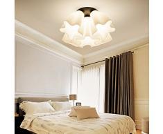 Creativos LED modernos Sala de estar minimalista nubes de techo lámpara del dormitorio de iluminación de lámparas de sala comedor den Niños , white 5 head