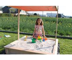 Tela protectora para caja de arena, incluye 4 anclajes, 2 x 2 m, color negro