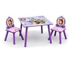 Delta Kids - Mesa infantil (madera, 60 x 60 cm, con 2 sillas) Sofia the First