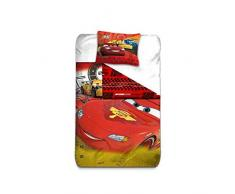 aymax s.p.r.l Cars 3 funda de edredón Reversible con funda de almohada, microfibra, rojo, 200 x 140 cm