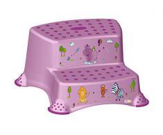 4 Set Z Hipopótamo lila soporte para inodoro + Orinal niños + Taburete dos escalones +Cubo de pañales