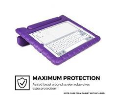 iPad Mini 3 2 1 Funda de niños, COOPER DYNAMO Funda dura protectora para choques y uso pesado para niños con agarre de mano, estante trasero y protector de pantalla incluido (Púrpura)