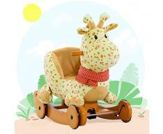 0a056a1d1 Labebe Caballo Mecedora de Madera 2-en-1 Jirafa Amarilla, niños Rocking Ride