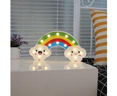 Rainbow Cloud LED Light Lámpara decorativa LED Lights Night Light Diseño de nube
