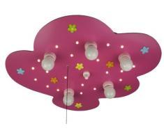 Niermann Standby Lámpara con diseño de nube, prado de flores, magenta E14
