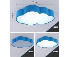 LILSN- Niños Lámpara de techo Moderno Simple Nube LED Salón Dormitorio Luces Jardín de infantes Dormitorio de los niños Iluminación Parque de atracciones ( Tamaño : Azul )