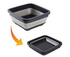 HYFZY Plegable Plato bañera Plegable Lavabo portátil Ligero Lavabo Plegable plástico Washtub Washbowl para casa Camping Cocina al Aire Libre