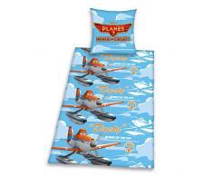 Herding 464378050412 Planes Disney Brave ropa de cama, funda de almohada: 80 x 80 cm y funda de edredón: 135 x 200 cm, 100% algodón, franela/castor