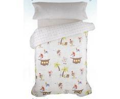 DECORACION NUEVO ESTILO- GALEON, funda nórdica infantil para cama de 90 cms, medida 150 x 240
