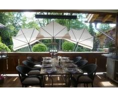 STABIELO - balcón - silla-sombrilla Holly'mat - compartimentos paraguas rojo - con Holly 5 compartimento para radio ajustable 360° MULTI - soporte GVC (35 EUR) - para fijaciones de vueltas o de elementos con un diámetro hasta