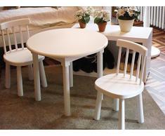 Mesa infantil redonda. En madera de pino, para pintar. Decoración y manualidades. Medidas: Diámetro 60 cms. Alto: 50 cms.