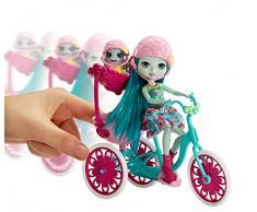 Enchantimals Bicicleta de Paseo, accesorios muñecas (Mattel FCC65)