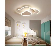 Lámpara de techo LED en forma de nube Lámpara de habitación para chicas Lámpara muy popular entre los niños Lámpara de dormitorio (Luz blanca, Blanco (42 * 25CM)32W)