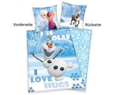 Herding 4479093050412 Frozen Disney Brave Ropa de Cama, Funda de Almohada, 80 x 80 cm y Funda de edredón, 135 x 200 cm, diseño de