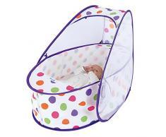 Koo-di Pop Up Mini - Minicuna portátil, unisex, color pastel polka