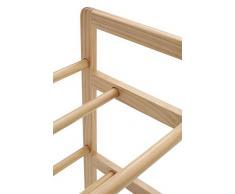 Premier Housewares PRIME - Estantería de madera de 3 pisos para habitación infantil, 9 compartimentos de plástico, 64 x 30 x 65 cm, multicolor