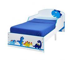 Hello Home 454DIE - Cama infantil con diseño de dinosaurio , color blanco