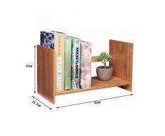 TLMYDD Estantería de Escritorio Retráctil Librería pequeña Libros Misceláneas Estante de Almacenamiento Estante de exhibición 35x18.5x25cm librero