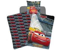 Disney - Juego de cama, diseño de Cars (funda nórdica y funda de almohada, reversible, cama individual)