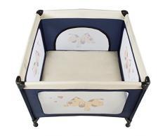 TecTake Parque para bebé Cuna Infantil de Viaje portátil (Azul | No. 402205)