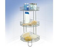 Rayen 2070 - Accesorio para ducha con 3 estantes, color gris metalizado