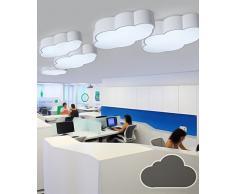 LXSEHN Nube De Sala De Niños Creativa Europea Lámpara De Techo De LED Niños Muchachas Dormitorio Kindergarten Playground Luces ( Color : Gray , Tamaño : L50*W33*8cm 28W )