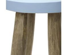 Mesa auxiliar Mesita de noche Mesa de madera azul natural taburete para niños Vintage Mesa de salón mesa + Magnífico librum® Flyer