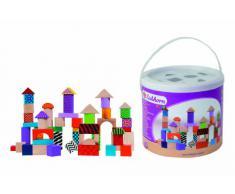 Tambor con 50 bloques de madera de colores (Eichhorn 2226) , color/modelo surtido