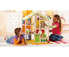Hape- Casa de muñecas Madera Grande con Muebles (Barrutoys HAP-E3401)