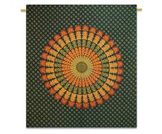 "verde tapiz mandala dormitorio tapiz tamaño completo hippie tapices bohemios 92 ""x 82"""