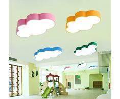 Lámpara Infantil Bebé Proyección Nubes LED Baby Luz Niños Lámpara de techo Wolke Cloud – Lámpara de techo para habitación infantil lámpara Niños Dormitorio Lámpara Dormitorio habitaciones lámpara regulable azul azul Talla:35CM 13W