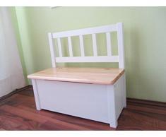 Best of JAM - Juego de muebles infantiles, 1 mesa, 1 silla y 1 banco, color madera y blanco
