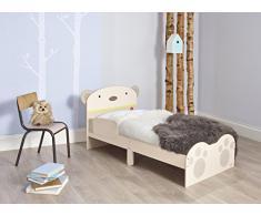 Hello Home 506SNG - Cama infantil con diseño de Abrazo de Oso, color blanco