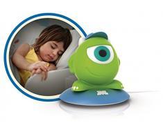 Philips Disney - Lámpara de mesa LED, luz de guía portátil, diseño SoftPal Mike, color verde