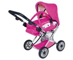 Bayer - Maxi Pink, carrito de juguete para muñecas, 3 en 1(13929)