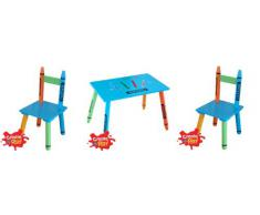 Para niños de madera sólida sillas y juego de mesa - Muebles de ceras de niños en forma de cubo para Roos m