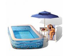 qz Bañera hinchable Bañera inflable plegable inflable de la piscina de los niños ( Tamaño : 120cm )