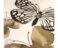 Juego de funda nórdica y funda de almohada de 5 piezas, presentado en una bolsa, diseño de mariposas, poliéster, azul, blanco y verde lima, funda nórdica para cama doble (diseño infantil)