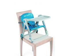 Be Cool 858 210 Dip - Trona Plegable de Viaje, Color Azul, Bandeja Extraíble, Aluminio, Compacta