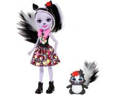 Enchantimals - Sage Skunk y Caper, muñeca con mascota (Mattel FXM72)