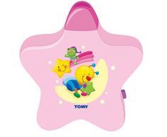 Tomy 2013 Lámpara Estrellita - Lámpara nocturna con proyector para niños, color rosa
