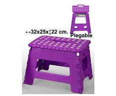 Taburete plegable violeta 32X25X22