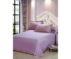 algodón jacquard 4 pieza hueca habitación de la boda juego de cama completo , king
