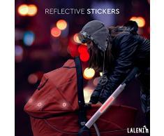 Laleni 13 Piezas reflectores | Adhesivos para Cochecito, Bicicleta, Escolares. | Aumenta la Noche de Seguridad Vial Am & al Atardecer | Etiqueta Leuc htauf Adhesivo (Rojo, 10 Sets)