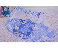 Jungen - Cuna plegable para bebé, con mosquitera, para tienda de campaña, viaje o playa azul Talla:108(L) x 65(W) x 38(H)