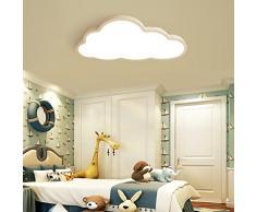 La lámpara de techo de la Nube llevó a los niños luces de la habitación de los niños y niñas La cama de dibujos animados ultrafina de 5 cm de luz blanca
