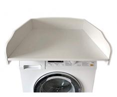 estable y ligero accesorio para lavadora o secadora superficie enrollada 60x70cm cambiador mesa de cambio Cambiador de mesa blanco