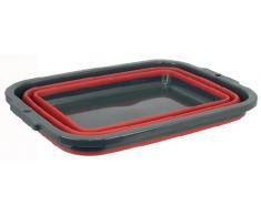 Plegable cesta, Bañera, plegable), plástico, 40 x 29 x 14,5 cm, Nuevo