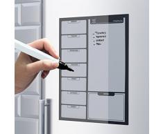 Balvi - Pizarra magnética (para notas y planificación semanal) con rotulador